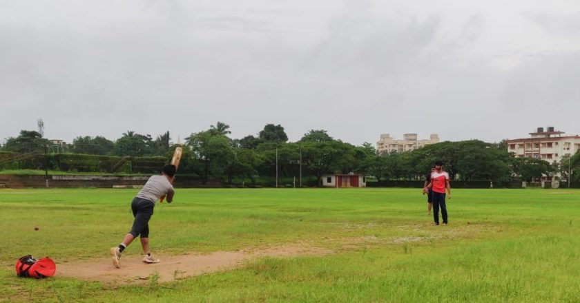 Cricket on a wet pitch